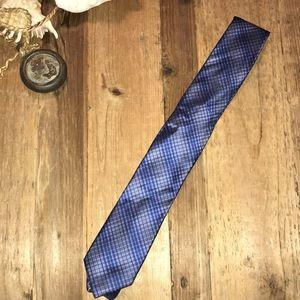 Calvin Klein 100% silk tie blue navy EUC
